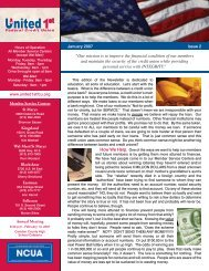 Jan 2007 - Issue 2 - United 1st Federal Credit Union