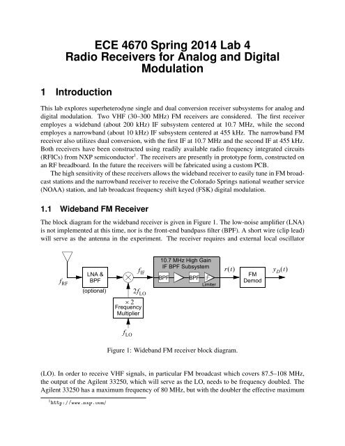 ECE 4670 Spring 2011 Lab 4 Radio Receivers for Analog and