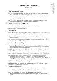 """Unsere Satzung als PDF - Berliner Ã""""rzte-Orchester"""