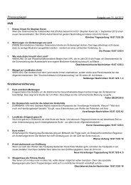 Pressespiegel vom 19. Juli 2012 Nr. 143 - Hauptverband