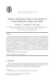 Isolation and protective effect in UW solution of human hepatocytes ...
