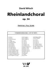 Rheinlandchoral - Demopartitur (BO-090)