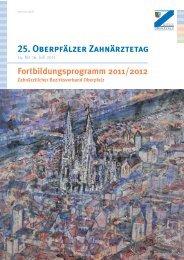Programm des Zahnärztetages - Universitätsklinikum Regensburg
