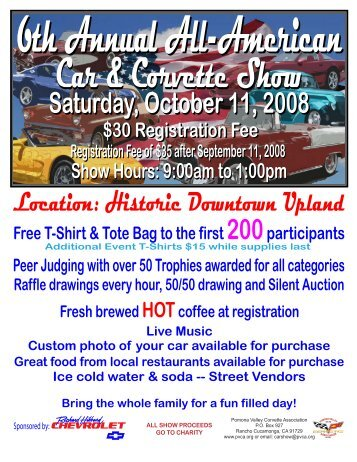 Pinewood Derby Car Show Flyer 2 Kansas City Corvette Association