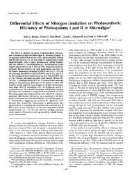 Differential Effects of Nitrogen Limitation on ... - Plant Physiology