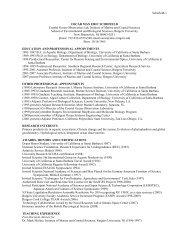 Curriculum Vitae - Environmental Biophysics and Molecular Ecology