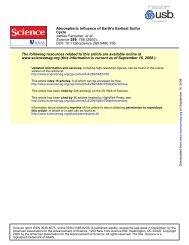 Farquhar et al., Science 2000