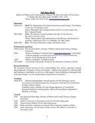 Tali Mass Ph.D - Environmental Biophysics and Molecular Ecology