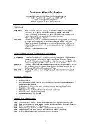 121107 Curriculum Vitae Orly Levitan - Environmental Biophysics ...