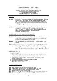 Curriculum Vitae – Orly Levitan - Environmental Biophysics and ...