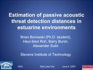 Estimation of passive acoustic threat detection ... - Brian Borowski