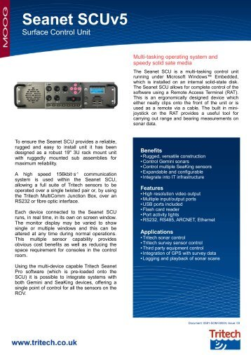 SeaNet SCU V5 - Oceanscan Limited