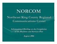 Northeast King County Regional Communications Center - norcom