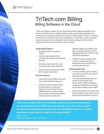 TriTech.com Billing - TriTech Software Systems