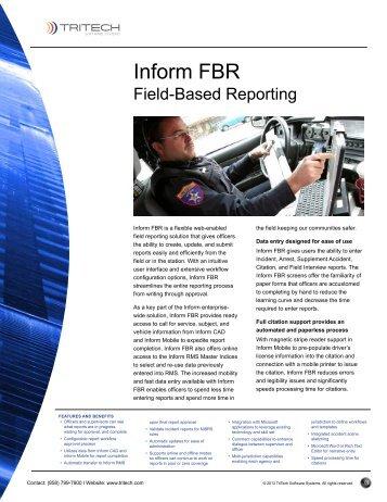 Inform FBR - TriTech Software Systems