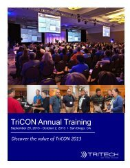 TriCON Annual Training - TriTech Software Systems