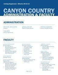 Catalog Supplement - Charter College