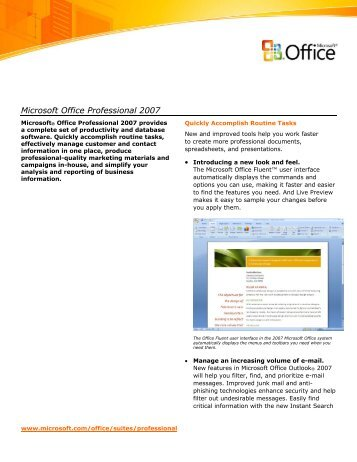 Microsoft Office Professional 2007 - Rapid Access