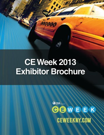 CE Week 2013 Exhibitor Brochure