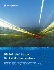 DM Infinity™ Series Digital Mailing System - Pitney Bowes