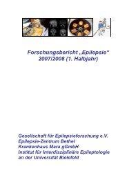 Forschungsbericht 2007/2008 - Gesellschaft für Epilepsieforschung ...