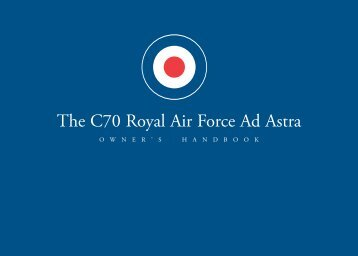 The C70 Royal Air Force Ad Astra - Christopher Ward