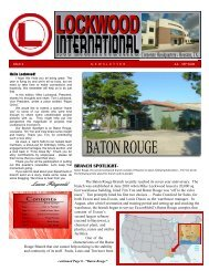 Baton Rouge, Louisiana - Lockwood International