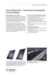 Bosch Mono-Serie – Hochwertig, leistungsstark und zuverlässig - tritec