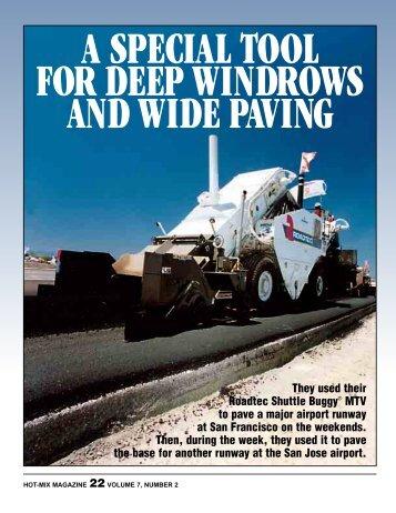 Deep Windrow, Wide Paving - Hot-Mix Magazine