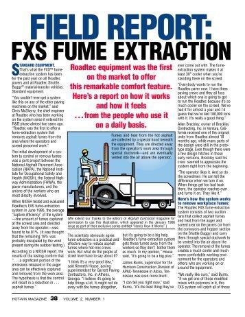 FXS FUME EXTRACTION - Hot-Mix Magazine