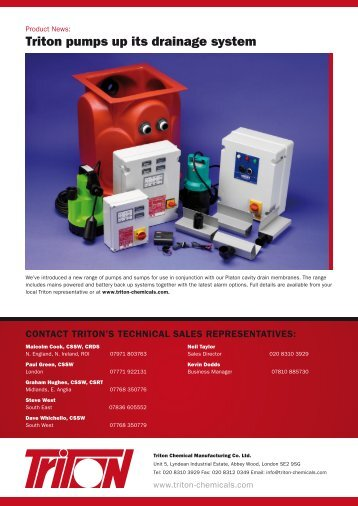 Summer 2010 - Triton Chemicals