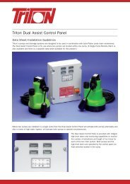 Dual Assist Control Panel Data Sheet Download - Triton