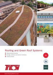 Roofing and Green Roof Systems - Triton Chemicals