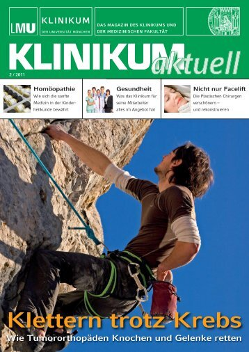 Klettern trotz Krebs - des Klinikums - Ludwig-Maximilians-Universität ...