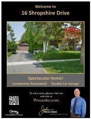16 Shropshire Drive ~ Toronto