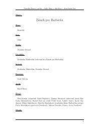 Zámek pro Barborku - Národní filmový archiv