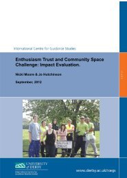 Enthusiasm Final Report 2012.pdf - University of Derby Online ...