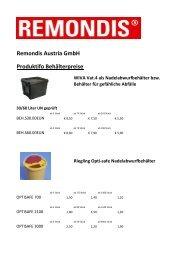 Remondis Austria GmbH Produktifo Behälterpreise ... - Ärztebank