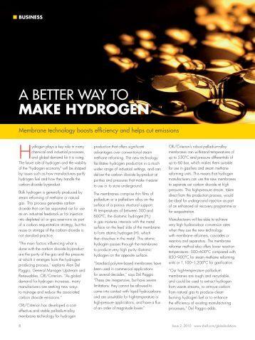 A better wAy to mAkE HyDRoGEN