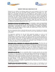 Website terms and conditions of use - Avio Diepen