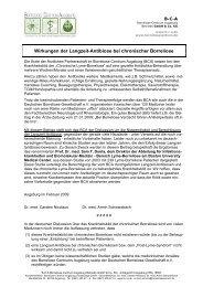 Wirkungen der Langzeit-Antibiose bei chronischer Borreliose