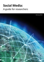 Social Media: A guide for researcher - Research Information Network