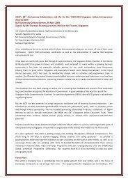 Keynote Address by Mr Tharman Shanmugaratnam, Minister for ...