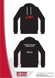 View images of all items - Crystal Palace Triathletes