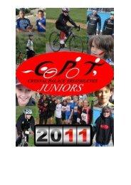 CPT Junior calendar here - Crystal Palace Triathletes