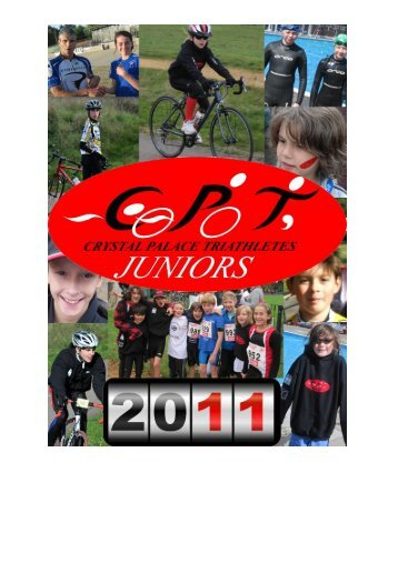 CPT Junior calendar here - Crystal Palace Triathletes