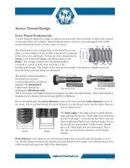 Screw Thread Design - Fastenal