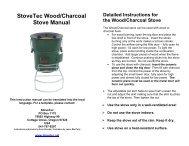 StoveTec Wood/Charcoal Stove Manual - Shop NOW!