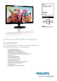 236V4LAB/00 Philips LCD-monitor met LED-achtergrondverlichting