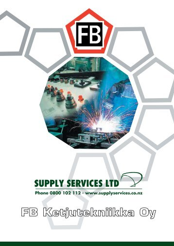 Download FB Metric Conveyor Chain Catalogue - Supply Services